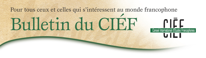 Bulletin du Conseil International d'&Eacute;tudes Francophones (CI&Eacute;F)
